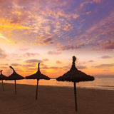 Majorca El Arenal sArenal beach sunset near Palma Stock Photo