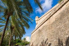 Majorca Es Baluard fasada w Palmie de Mallorca Zdjęcia Stock