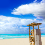 Majorca Es Trenc ses Arenes beach in Balearic Royalty Free Stock Photo