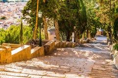 Majorca, escalier vers le calvaire d'Arta photographie stock