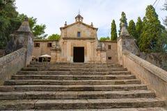 Majorca esglesia del Calvari church Pollenca Pollensa Royalty Free Stock Photo