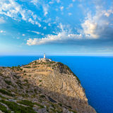 Majorca Formentor Cape Lighthouse in Mallorca Stock Photo