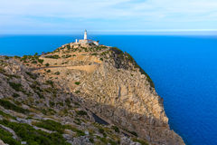 Majorca Formentor Cape Lighthouse in Mallorca Royalty Free Stock Photography
