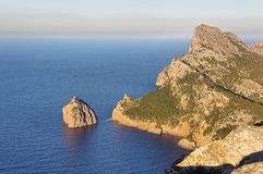 Cape Formentor in Majorca, Spain. Majorca / Formentor / picture showing the stunning shore and cliffs at the Formentor cape area in Majorca royalty free stock images