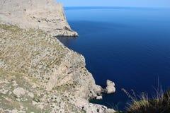 Majorca głęboki morze i skalisty brzegowy widok Obraz Stock