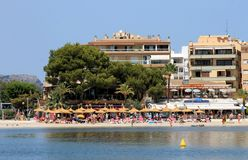 Majorca island beach scene Royalty Free Stock Images