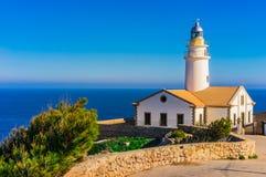 Free Majorca, Lighthouse With Clear Blue Sea And Sky At Coast Of Cala Ratjadaof Stock Photos - 120809123
