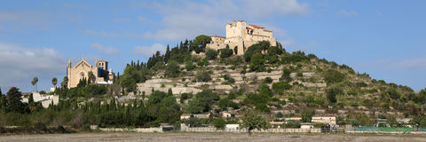 Majorca Mallorca Arta Balearic Islands church panorama panoramic royalty free stock image
