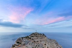 Majorca Mallorca Cap Formentor evening sky Mediterranean Sea Spa. In copyspace travel copy space Stock Image