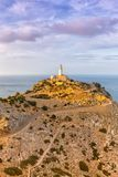 Majorca Mallorca Cap Formentor landscape nature Mediterranean Se. A portrait format Balearic Islands Spain copyspace travel copy space Royalty Free Stock Image