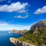 Majorca mirador Formentor Cape Mallorca island. Majorca mirador Formentor Cape in Mallorca island of spain Royalty Free Stock Image