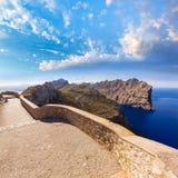 Majorca mirador Formentor Cape Mallorca island. Majorca mirador Formentor Cape in Mallorca island of spain Royalty Free Stock Photos