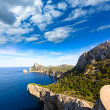 Majorca mirador Formentor Cape Mallorca island. Majorca mirador Formentor Cape in Mallorca island of spain Royalty Free Stock Photography