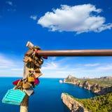 Majorca mirador Formentor Cape Mallorca island Stock Images