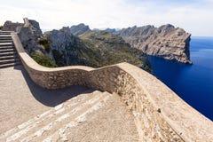 Majorca mirador Formentor przylądka Mallorca wyspa Zdjęcia Royalty Free