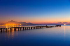 Majorca Muro beach sunrise Alcudia Bay Mallorca Stock Photography