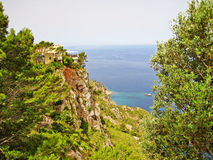 Majorca northwest coast in the Tramuntana mountains Royalty Free Stock Photography