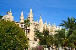 Majorca Palma Cathedral  at Balearic Islands Stock Photography