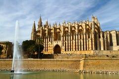 Majorca Palma Cathedral  at Balearic Islands Royalty Free Stock Photography