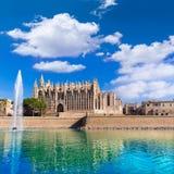 Majorca Palma Cathedral Seu Seo of Mallorca Stock Images