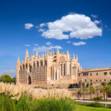 Majorca Palma Cathedral Seu Seo of Mallorca. At Balearic Islands Spain Stock Photography