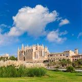 Majorca Palma Cathedral Seu Seo of Mallorca. At Balearic Islands Spain Royalty Free Stock Photo