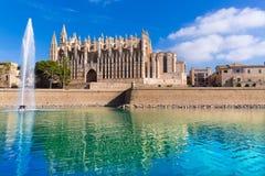 Majorca Palma Cathedral Seu Seo of Mallorca Royalty Free Stock Photos