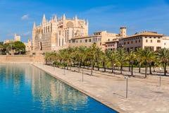 Majorca Palma Cathedral Seu Seo of Mallorca Stock Photos