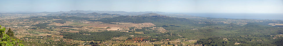 Majorca panorámico Foto de archivo libre de regalías