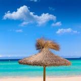 Majorca Platja de Muro beach Alcudia bay Mallorca. Majorca Platja de Muro beach in Alcudia bay in Mallorca Balearic islands of Spain Royalty Free Stock Photography