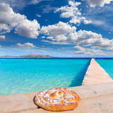Majorca Platja de Muro beach Alcudia bay Mallorca. Majorca Platja de Muro beach in Alcudia bay in Mallorca ensaimada photo mount Royalty Free Stock Image