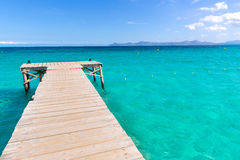 Majorca Platja de Muro beach Alcudia bay Mallorca Royalty Free Stock Photography