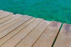 Majorca Platja de Muro beach Alcudia bay Mallorca. Majorca Platja de Muro beach pier in Alcudia bay in Mallorca Balearic islands of Spain Stock Photography