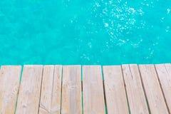 Majorca Platja de Muro beach Alcudia bay Mallorca. Majorca Platja de Muro beach pier in Alcudia bay in Mallorca Balearic islands of Spain Stock Images