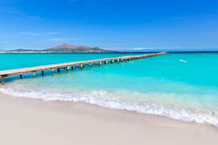 Majorca Platja de Muro plaży Alcudia zatoka Mallorca obrazy stock