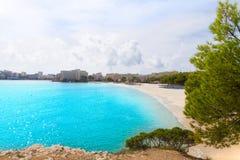 Majorca Platja Palmanova beach in Calvia Bol Teules Stock Image