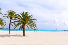 Majorca Platja Palmanova beach in Calvia Bol Teules Royalty Free Stock Photo