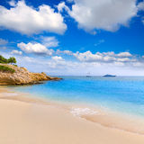 Majorca Platja Palmanova beach in Calvia Bol Teules Royalty Free Stock Photos