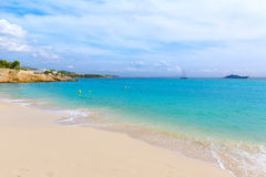 Majorca Platja Palmanova beach in Calvia Bol Teules. Majorca Platja Palmanova beach in Calvia Bol ses Teules Mallorca Stock Photo