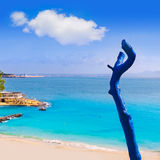 Majorca Playa de Illetas παραλία Μαγιόρκα Calvia Στοκ Εικόνα