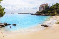 Majorca Playa de Illetas παραλία Μαγιόρκα Calvia Στοκ Εικόνες