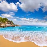 Majorca Playa de Illetas beach Mallorca Calvia. Majorca Playa de Illetas Balneario beach in Mallorca Bendinat Calvia at Balearic islands of spain Royalty Free Stock Images