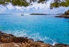 Majorca Playa de Illetas beach Mallorca Calvia Stock Image