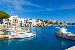 Majorca Porto Colom Felanitx port in mallorca. Balearic island of Spain Stock Photos