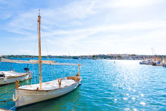 Majorca Porto Colom Felanitx port in mallorca Stock Photography