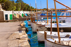 Majorca Porto Colom Felanitx port in mallorca. Balearic island of Spain Royalty Free Stock Image