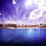Majorca Porto Cristo beach in Manacor at Mallorca Stock Photography