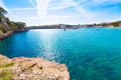 Majorca Porto Cristo beach in Manacor at Mallorca Stock Photography