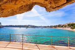 Majorca Porto Cristo beach in Manacor at Mallorca royalty free stock image