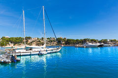 Majorca Porto Cristo marina port Manacor Mallorca Stock Photography